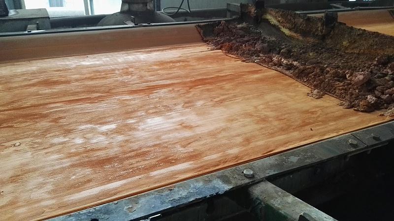 博联水平带式过滤布有色金属钒过滤现场